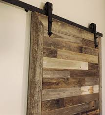 the bretton style rustic reclaimed wood sliding barn door