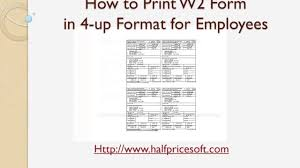 W2 Template Excel Ezw2 Tutorial How To Print W2 In 4 Up Format For Employees On White Paper
