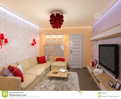 Modern Interior Designs For Living Rooms Modern Interior Design Of Living Room 3d Render Royalty Free Stock