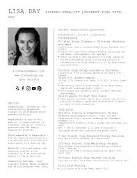 Yoga Teacher Resume Lisa Day Pilates Resume