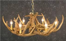 9 antlers whitetail deer antler chandelier