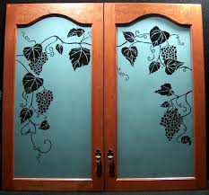 kitchen door glass etching designs