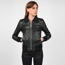 belmont black leather jacket