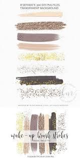 make up brush strokes clipart logo background brush strokes logo inspiration