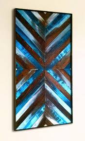 blue wood wall art wood wall art large