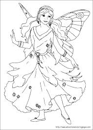 Free Printable Barbie Fairy Coloring Pages Tooth Fairy Coloring Page