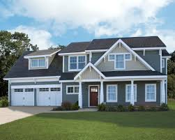 exterio color paint inspiration for modern home with white garage doors and gray walls