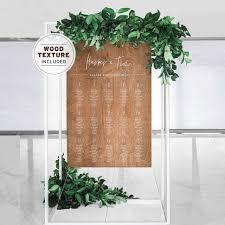 Minimalist Rustic Wood Seating Chart Diy Print