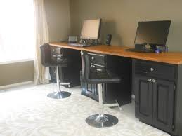 kitchen office pinterest desks. Brilliant Ideas Of Standing Puter Lab Desk Made From Old Painted Kitchen Cabinets About Ikea Office Pinterest Desks E