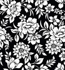 black and white floral wallpaper pattern. Fine And Black And White Flowers Decorative Seamless Floral Wallpaper Stock Photo   20299024 And Black White Floral Wallpaper Pattern Pinterest