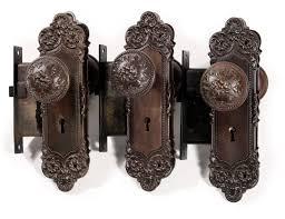 antique door hardware. Three Complete Antique Door Hardware Sets Monaco Yale Glass Knobs With Locks R