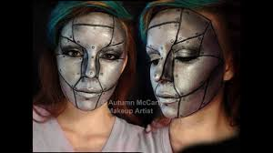 metal plated robot makeup tutorial you