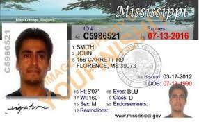 Mississippi Od Id Card Mississippi Od Card Id