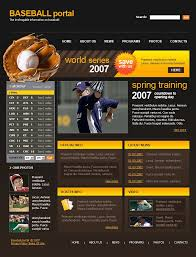 Baseball Websites Templates Baseball Website Template 15463