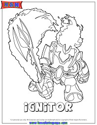 Small Picture Skylanders Giants Fire Ignitor Series2 Coloring Page H M