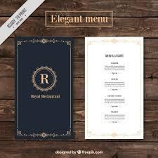 Design A Menu Free Classy Menu Restaurant Template Free Vector Menu Card