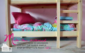 american girl doll bunk bed plans diy american girl doll furniture