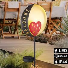 led solar plug in lamp black orange