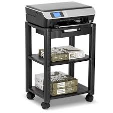 office rolling cart. Amazon.com : Halter LZ-308 Rolling Printer Cart Machine Stand With Cable Management - Holds Up To 75 Pounds (Black) Office Products