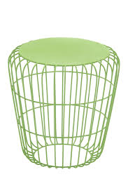image of uma green metal round wire side table