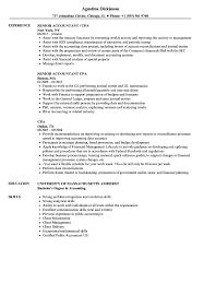 Resume Professional Resume Senior Accountant Sample Canada Account