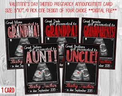 valentines day pregnancy announcement cards valentines day themed chalkboard pregnancy announcement card w