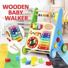 wooden baby walker toddler walker baby push activity walker wooden toys crazy s
