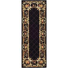 safavieh chelsea black 3 ft x 12 ft runner rug