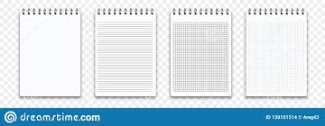 Page Binder Notebook Memo Notepad Templates Vector Note Pad Or Diary