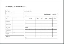 Exercise Program Templates Workout Schedule Templates Doc Free Premium Personal