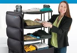suitcase with shelves