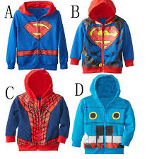 Superhero Coat Rack Children boys superhero coat spiderman coat Boys hooded long sleeve 81