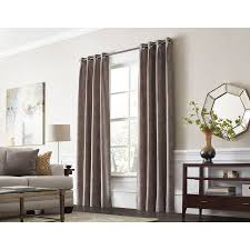 allen roth winbourne 84 in sand polyester grommet room darkening thermal lined single curtain