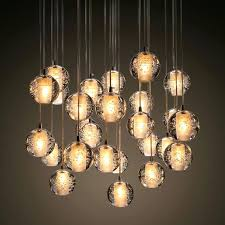 ball pendant chandelier black gold glass branching