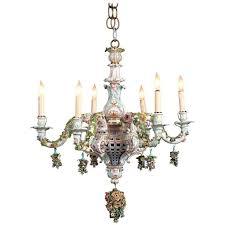 antique bronze chandelier parts silver chain vintage crystal