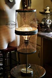 repurposed lighting. Vintage Remains: Re-purposed Minnow Trap Lamp. With Extra Large Bulb. Repurposed Lighting D