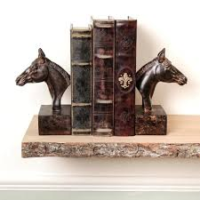 wooden horse head bookends book ends gift