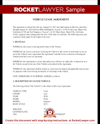 Vehicle Lease Agreement Sample Vehicle Lease Agreement Sample Lease For Cars And Trucks