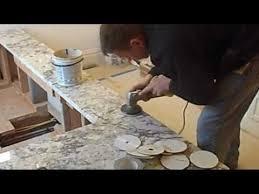 how to polish a granite seam