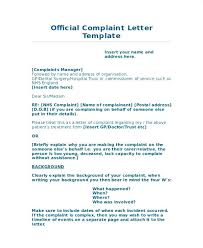 Complaint Letters Samples Cool Official Complaint Letter Template Ramautoco