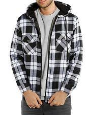 Hooded Flannel: Clothing, Shoes & Accessories | eBay & Men's Quilted Zip-Up Hooded Flannel Plaid Jacket Sweater Hoodie M-2XL 4  Colors Adamdwight.com