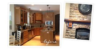 before after kitchen facelift with chalk paint