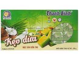 Kẹo dừa lá dứa Thanh Bình Đặc sản Bến Tre hộp 300g