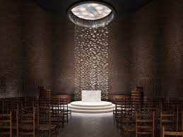 interior of the chapel at mit by eero saarinen 1955 photo credit lee