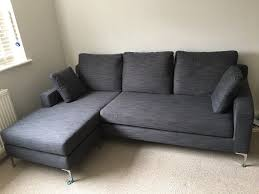 dwell oslo reversible corner sofa grey fabric bought 60 days before for 1200 selling 500