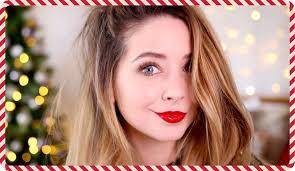 festive makeup look zoella