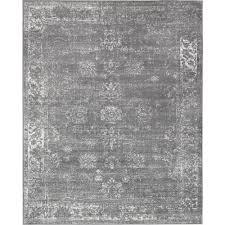 unique loom monaco dark gray 8 ft x 10 ft area rug