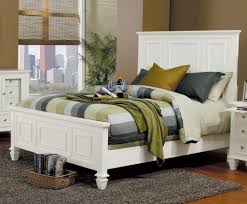King Bedroom Suite Glenmore White Panel King Size Bed At Gowfbca Free Shipping