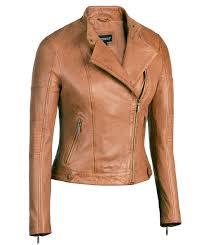 cognac womens asymmetrical leather jacket scuba collar lambskin