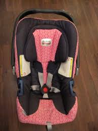 britax baby safe car seat bella lovely denim and pink patterned cover